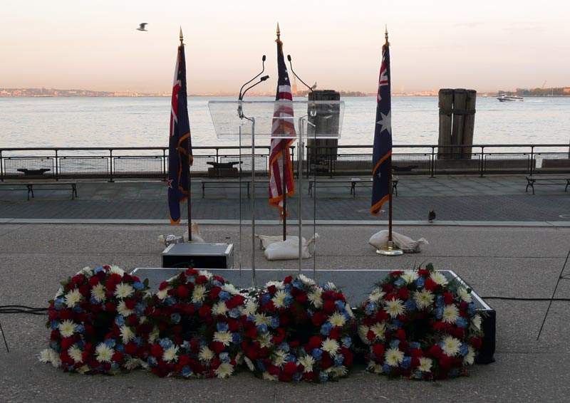 ANZAC Day, dawn service, Battery Park, NYC, 2012