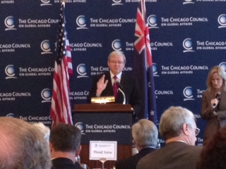 Australian Foreign Minister Kevin Rudd in Chicago, 19 July 2012